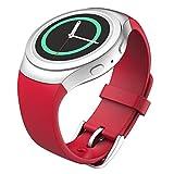 Gear S2 Smartwatch bracelet, MoKo watch band flexible en silicone pour Samsung Galaxy Gear S2 SM-R720 / SM-R730 Smart Watch - ROUGE (Non adapté à Gear S2 Classic SM-R732)