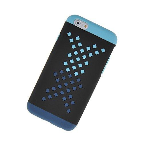 MOONCASE Hard Shell Cover Housse Coque Etui Case Pour Apple iPhone 6 Plus Orange Voilet Noir Azur
