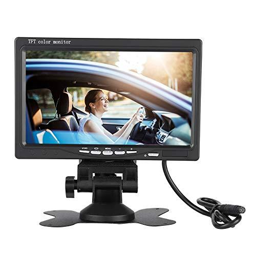13.3 Tft Display (Garsent LCD TFT Auto KFZ Monitor, 7 Zoll Rückfahrkamera Monitor, drehbar Rear View LCD Display mit Sonnenschutz Bildschirm für Auto, 2 Videoeingang,DC9V ~ 26V)