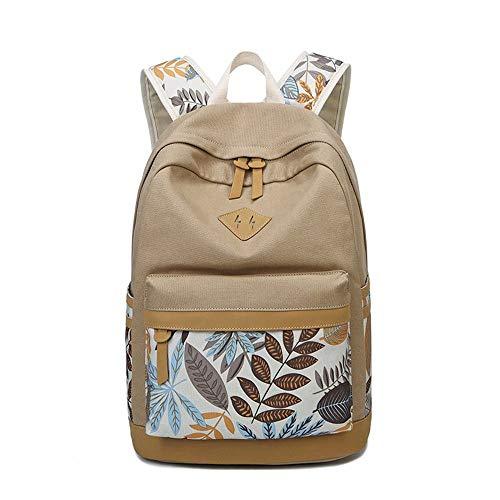 Willsego zaino da viaggio per borsa da viaggio a tracolla in tela a quattro stagioni da donna (colore : cachi, dimensione : 43x29x17cm)