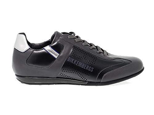 Bikkembergs Sneakers Uomo Bke107456 Pelle Grigio 18d54695fe1