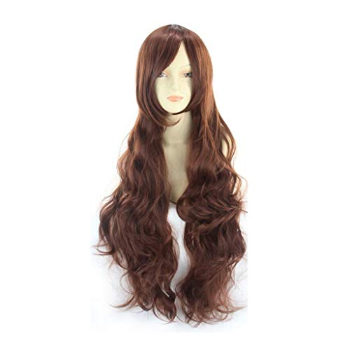 arbe Welle Langes Lockiges Haar Anime Girl 80cm (Farbe : A) ()