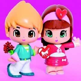 TOMY PINYPON LOVERS DOUBLE PACK BLOND BOY BROWN HAIRED GIRL