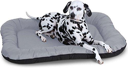 Knuffelwuff Hundebett Lucky In und Outdoor Hundekissen Hundesofa Hundekörbchen Hundekorb, Größe L Grau