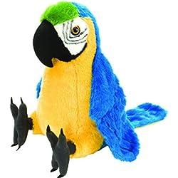 WYBL Lindo Loro Felpa muñeca Juguete Dibujos Animados Animal Animal Animal Relleno decoración muñecas Juguetes para los niños cumpleaños 15cm
