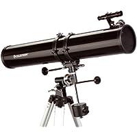 Celestron PowerSeeker 114 EQ - Telescopio (zoom 45x), color negro