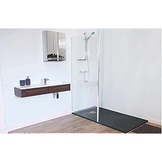 White Slate Textured Finish Stone Resin Anti-Slip Shower Tray 1400 x 800 x 30mm