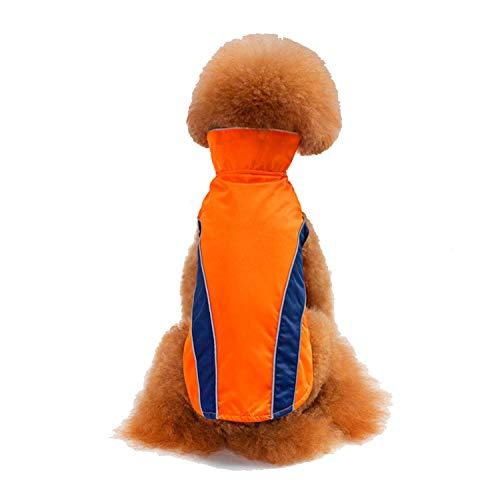 JYMDH Winter Warmes Fell Wasserdichte Kleidung Für Kleine Mittelgroße Pet Dog Cat,Yellow,XL -