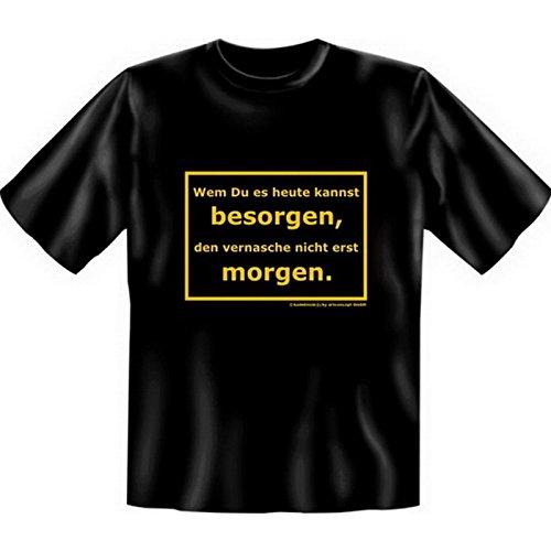 Witziges Fun-shirt - Tshirt als Geschenk mit Minishirt - Schwarz - Wenn Du heute kannst besorgen Schwarz