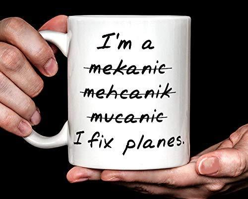 ?? I Fix Planes mug   funny airplane aviation mechanic coffee mug ?? Coffee Mug 11oz (Fix I Planes)