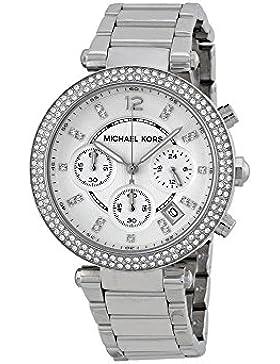 Armbanduhr Damen MICHAEL KORS MK5353–Stahl Silber Crono–Parker