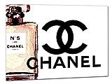 Kuader Tableaux Inspirés De Chanel Zoom Parfum Chanel N.5 Impression sur Toile d'un Tableau Art Moderne Dècoration Murale Cho50, 70x50 cm