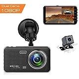 Apexcam Dash Cam Telecamera per Auto da 4 pollici 1080P FHD Camera Car Con Obiettivo Grandangolare...