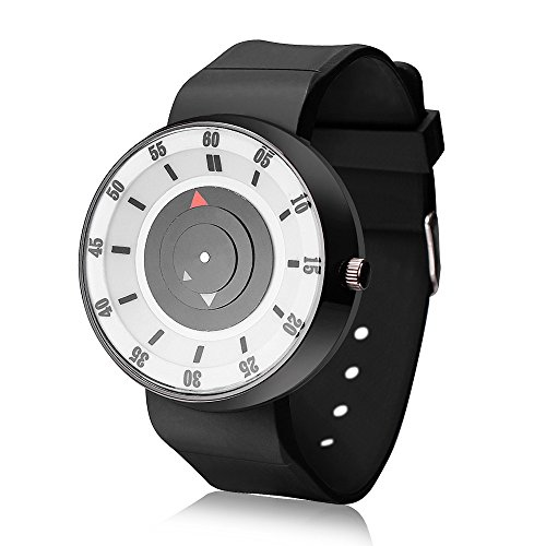 Doingshop Mode Uhr Luxus Einfache Edelstahl Analog Quarz Sport Intelligente Kreative Armbanduhr