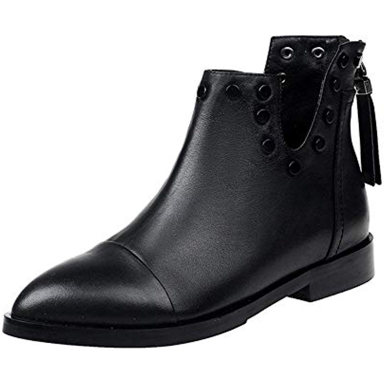 SED Femmes Courtes 'S Bottes Courtes Femmes PU Zipper Heel Eacute;tanche Table Quotidien Casual Chaussures Automne et Hiver - B07GXL23WT - 9d4367