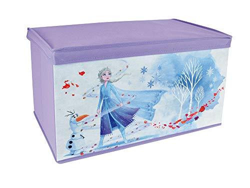 Fun house 713188 - contenitore per giocattoli pieghevole, motivo: frozen, per bambini, colore: viola