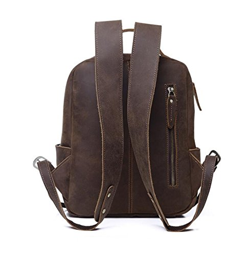 DJB/ Retro-verrückte Frau Ma Pinv Pack Rucksack Trend Rucksack aus Leder chocolate