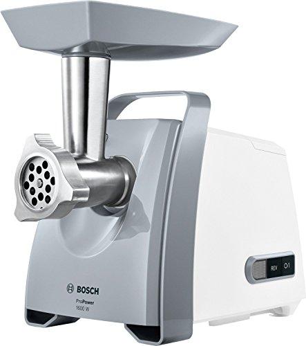 Bosch MFW45020 Fleischwolf ProPower 500 W (Blocking Power 1600 W, Größe 5, Mengenverarbeitung bis zu 2.7 kg/Min) weiß
