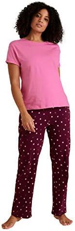 Marks & Spencer Women's Cotton Polka Dot Short Sleeve Pyjama Set, Pu