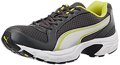 Puma Men's BolsterDP Dark Shadow, Silver and Blazing Yellow Running Shoes - 7 UK/India (40.5 EU)