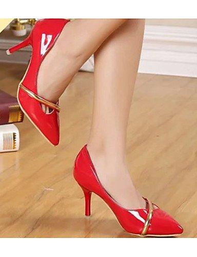 WSS 2016 Chaussures Femme-Décontracté-Rouge / Blanc-Talon Aiguille-Talons-Chaussures à Talons-Polyuréthane white-us6 / eu36 / uk4 / cn36