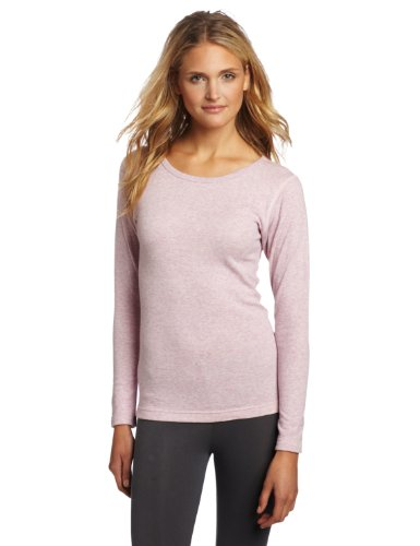 Duofold Women's Mid Weight Double Layer Thermal Shirt, Berry Pink Heather, Mid-layer Thermal