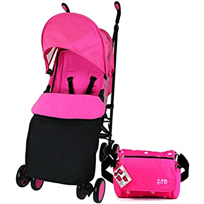 Zeta Citi Stroller Buggy Pushchair - Raspberry Pink (Complete With Footmuff + Bag + Raincover) from Baby Travel