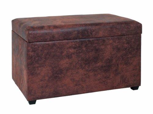 HAKU Möbel 30886 Sitztruhe 65 x 40 x 42 cm, vintage braun