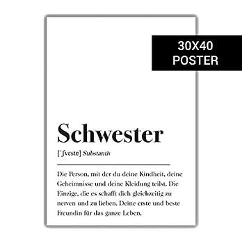 Schwester Definition 30x40cm Plakat