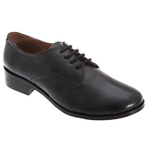 Grafter Damen Cadet Schnürschuhe / Schuhe Leder (40 EUR) (Schwarz)
