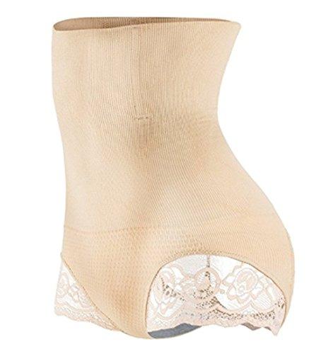 KEALLI Damen Butt Lifter Shaper Nahtlose Kontrolle Hohe Taille Bauch Oberschenkel schlanker Briefs (XL / 2XL, Aprikose) - Komfort Nahtlose Shaper Brief