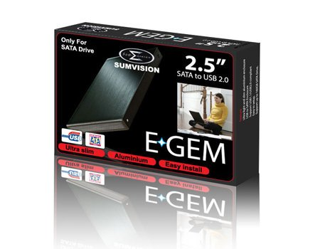Sumvision Egem Externe Festplatte (100 GB, USB 2.0, NFTS, 6,3cm / 2,5Zoll), Grau / silberfarben Grau / Grün 80 GB