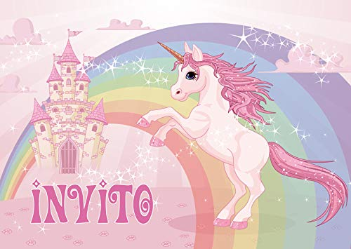 Edition Colibri 10 Inviti Per Festa Di Compleanno Motivo Unicorno Inviti Di Compleanno Per Bambini In Italiano 10952 It