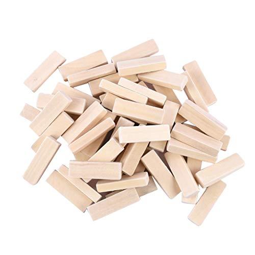 Homyl 50 Stück DIY Bauklötze Bausteine Holzpuzzle Holz Blöcke Kinder Basteln Spielzeug