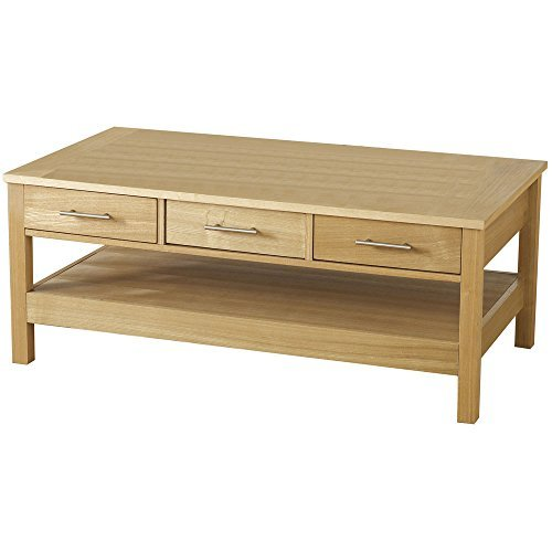Oakleigh Natural Oak 3 Drawer Coffee Table