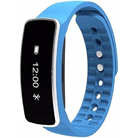 Reloj inteligente Sannysis Smartwatch IOS (4.0Bluetooth, 64KB RAM y 64KB ROM) (Azul)