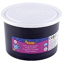 Jovi - Bote con pintura de dedos, 500 ml, color negro (56130)