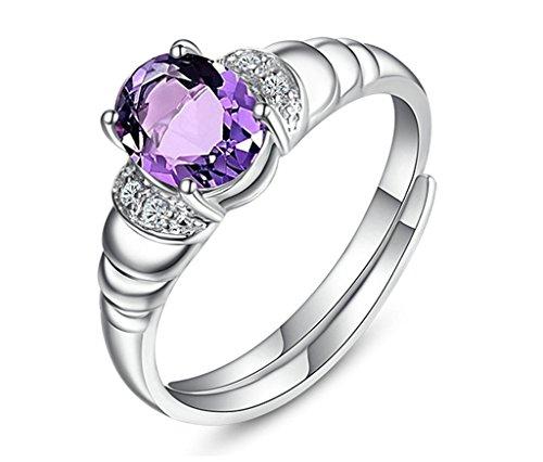 Daesar Silber Ringe Prinzessin Cut Rhinestone Zirkonia Ringe für Damen Prinzessin Braut Ring Größe:50 (15.9)
