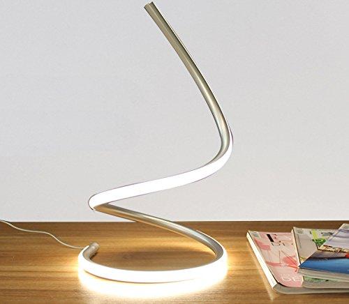Lámpara de mesilla minimalista y moderno dormitorio matrimonio habitación personalidades artísticas creativas casa elegante salón lámpara, blanco plateado, Interruptor de botón