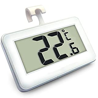 AIHOME™ Refrigerator Thermometer Waterproof Fridge Freezer Thermometer With Easy to Read LCD Display Ideal for Home,Restaurants,Bars,Cafes