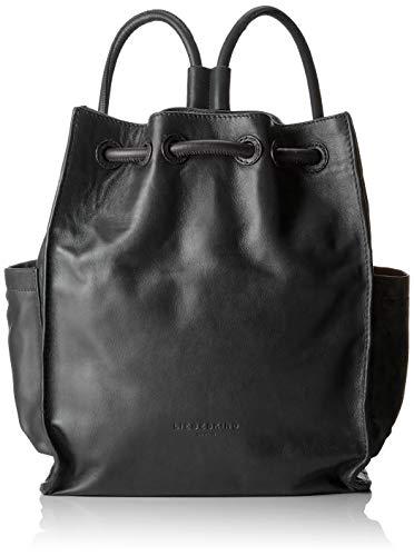 Liebeskind Berlin Damen Drawstring Backpack Medium Rucksackhandtasche, Schwarz (Black), 11.0x33.0x27.0 cm
