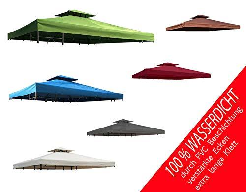 habeig Ersatzdach 340g/m² Dach EXTRA STARK PVC Beschichtung Pavillondach 100% Wasserdicht Pavillon knapp 3x3m NEU (Beige)