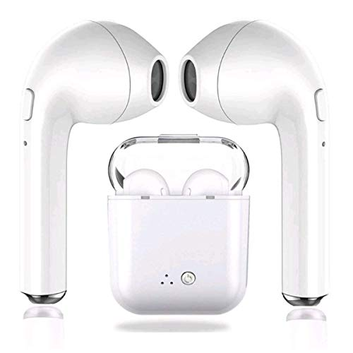 cvbxdgbsxdb Bluetooth Headsets, Wireless Headsets Headset Bluetooth 5.0 InEar Headphones Earbuds Wireless Stereo In-Ear Hands-Free Mic Integrated for Apple Airpods Android/iPhone (White)