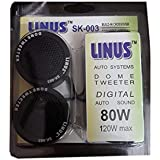 Linus SK-003 Piezo Dome Audio System Tweeter Speakers (Black)