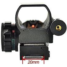 Etopfashion Punto Reflejo Holografico Util Alcance 4 Reticula y Mira Laser, Rojo y Verde