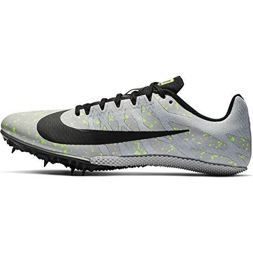 Nike Zoom Rival S 9, Chaussures d'Athlétisme Mixte Adulte, Multicolore (Pure Platinum/Black/Volt Glow 077), 40 EU