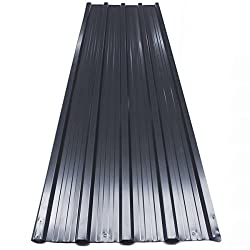 12x Deuba Corrugated Roof Sheets 1290 x 450 mm / 7 m² Roofing Wall Cladding Aluminum Grey Anthracite