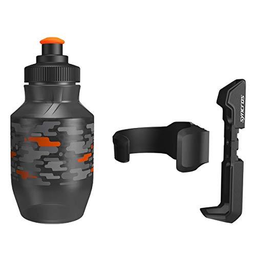 Syncros Kids Kinder Fahrrad Trinkflasche 0.3l schwarz + Halter