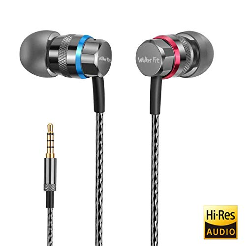 WalkerFit A2 Cuffie con auricolari, alta definizione, in-ear, groviglio libero, isolamento acustico, HEAVY DEEP BASS per smartphone e tablet