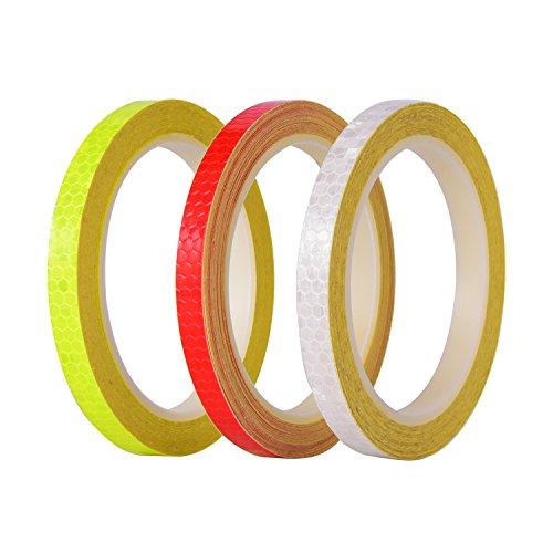 Preisvergleich Produktbild Reflexstreifen 3 Rollen 3 Farben Micro Prismatische Blätter Reflektierende Sicherheitsband, Insgesamt 26 Yards